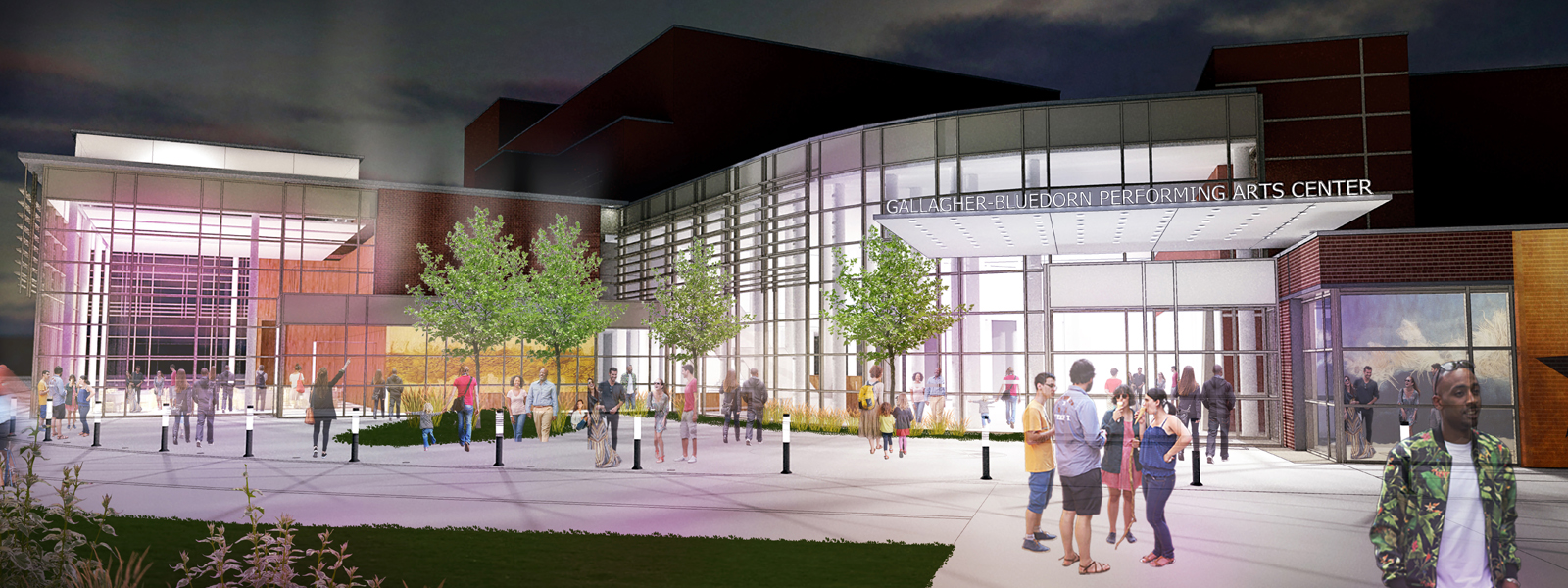 A rendering of proposed renovations to the Gallagher Bluedorn