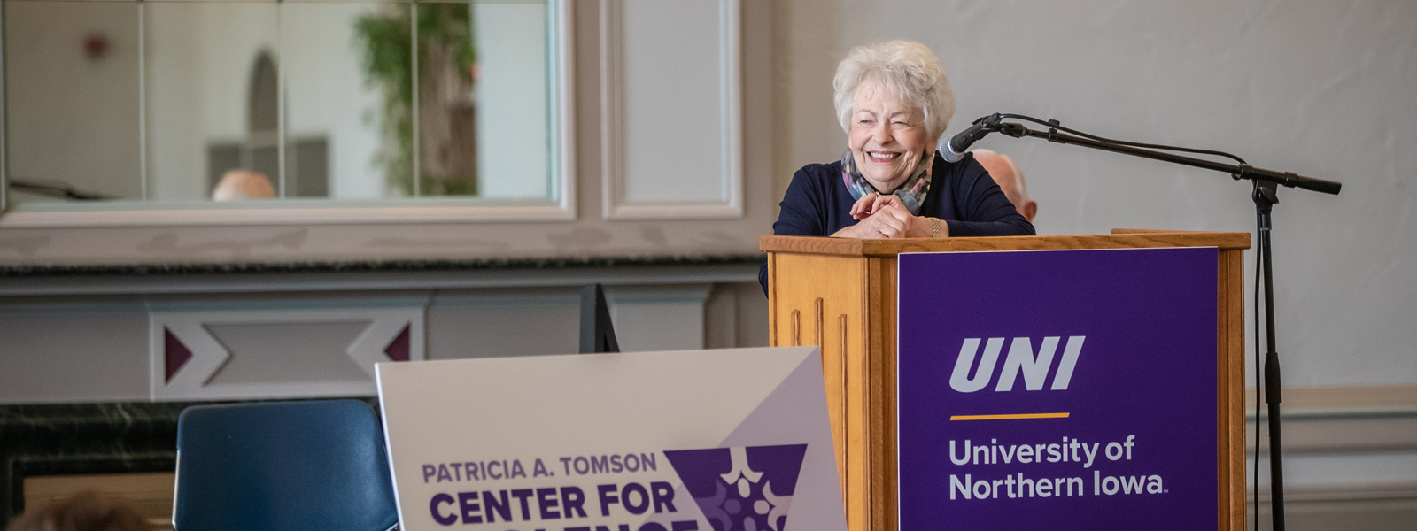 Patricia Tomson at the ceremony for the naming of the Patricia A. Tomson Center for Violence Prevention