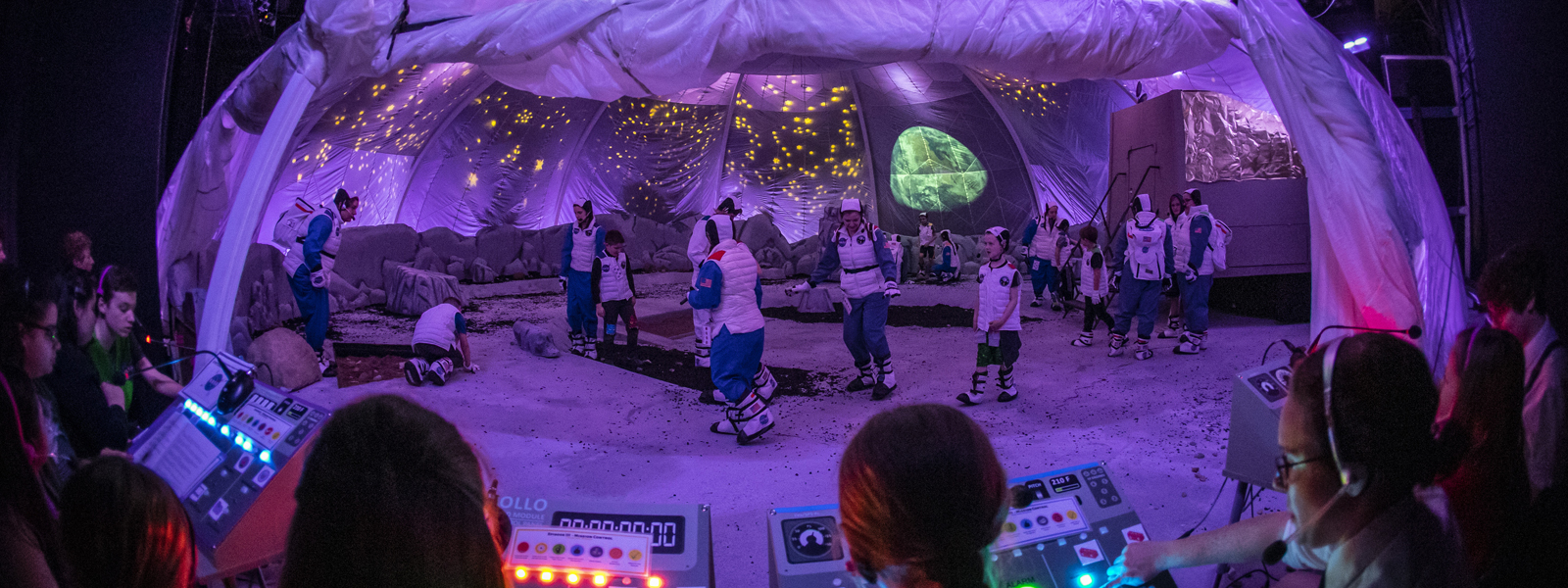 Students participate in the To Touch the Moon experience