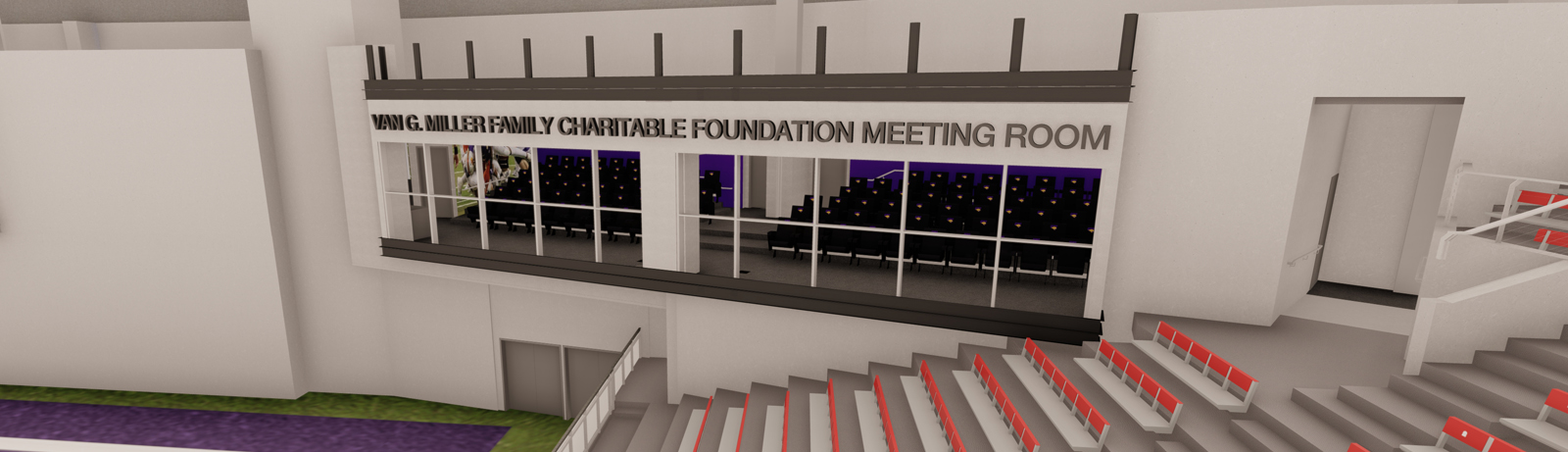 The Van G. Miller Family Charitable Foundation Meeting Room as seen from the UNI-Dome
