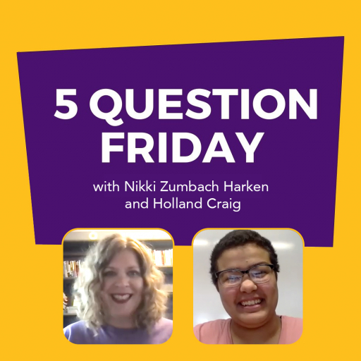 Five Question Friday with Nikki Zumbach Harken in purple and Holland Craig in pink